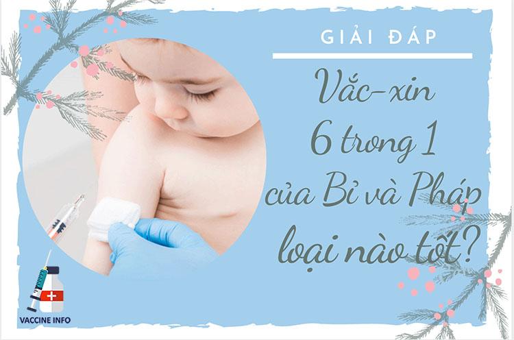 So sánh vắc-xin 6 trong 1 của Bỉ và Pháp